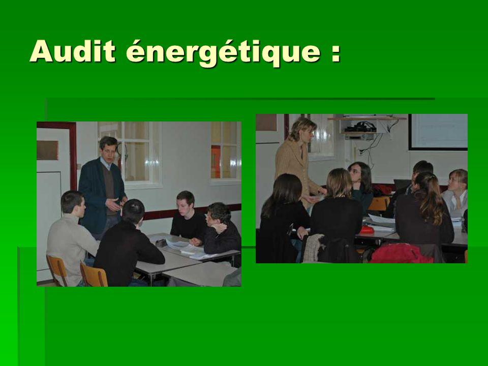 Audit énergétique :