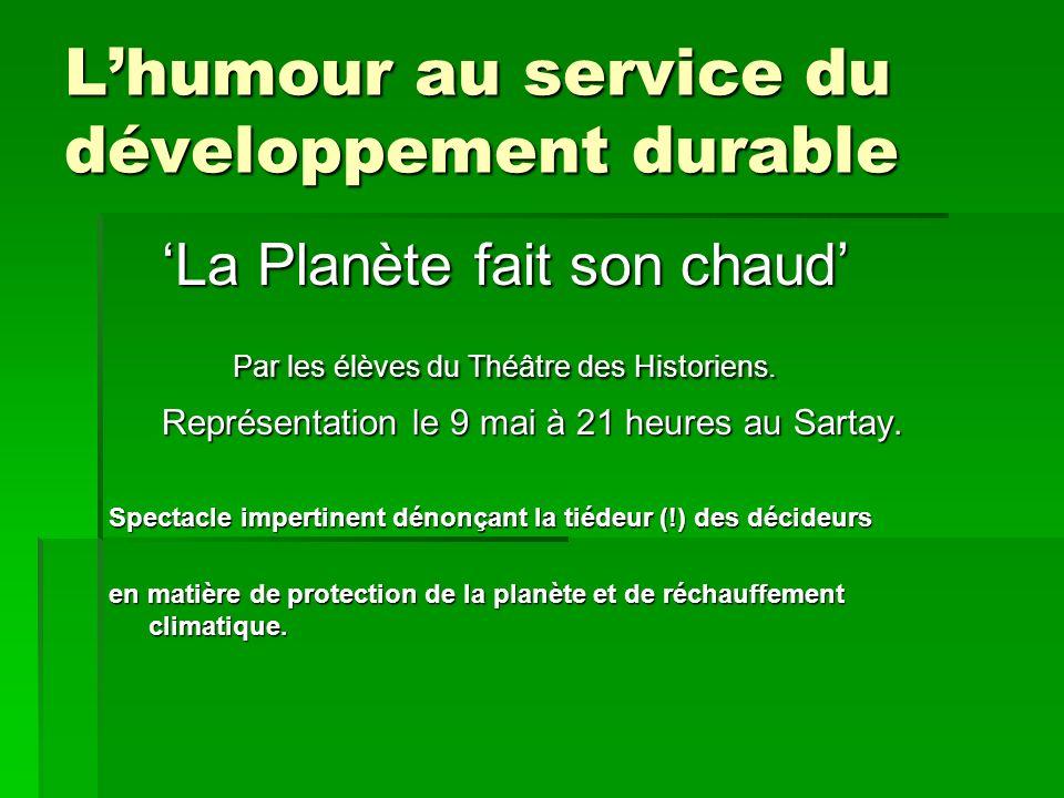 L'humour au service du développement durable