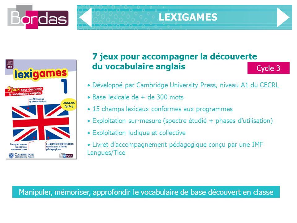 LEXIGAMES 7 jeux pour accompagner la découverte du vocabulaire anglais