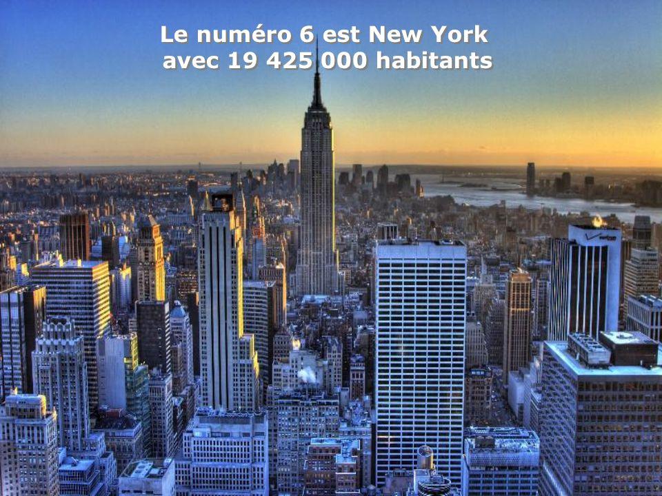Le numéro 6 est New York avec 19 425 000 habitants