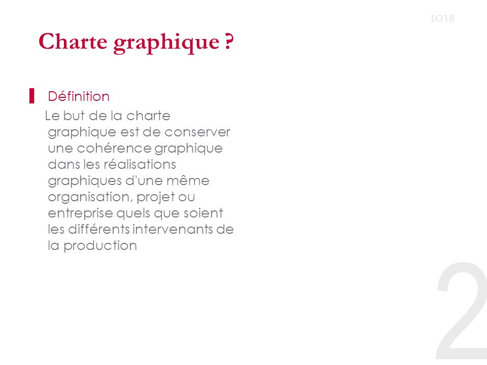 Charte graphique Définition