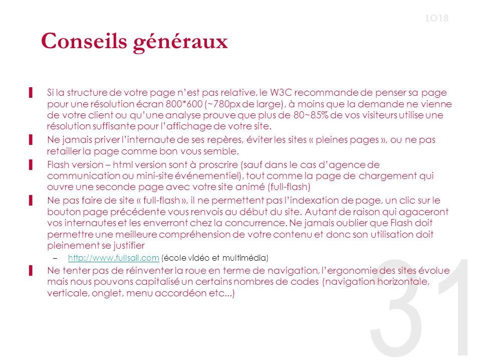 Conseils généraux LO18.