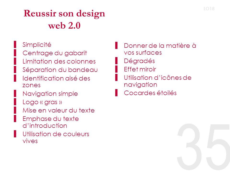 Reussir son design web 2.0 Simplicité