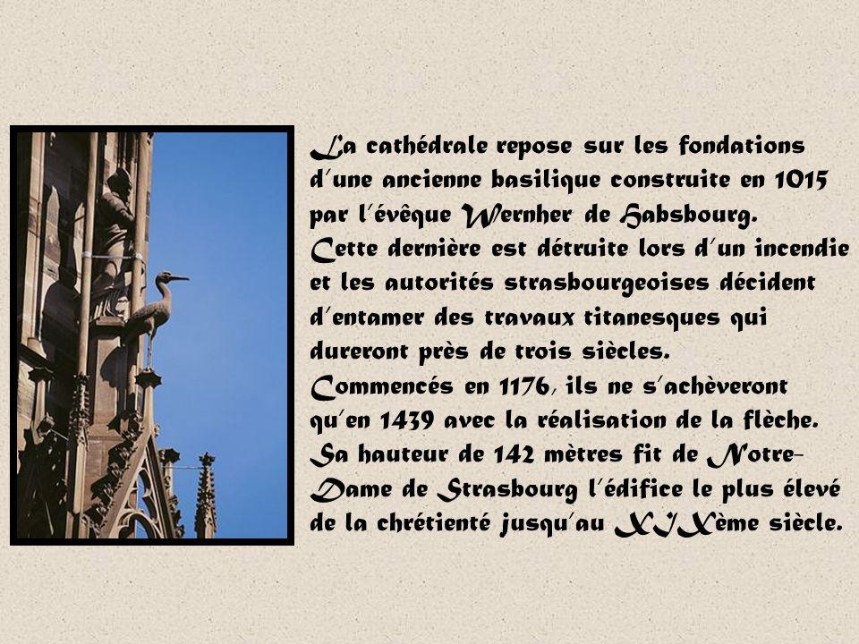 La cathédrale repose sur les fondations d'une ancienne basilique construite en 1015 par l'évêque Wernher de Habsbourg.
