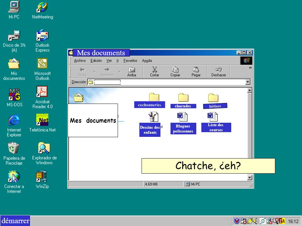 Chatche, ¿eh Mes documents démarrer Mes documents Mes documents