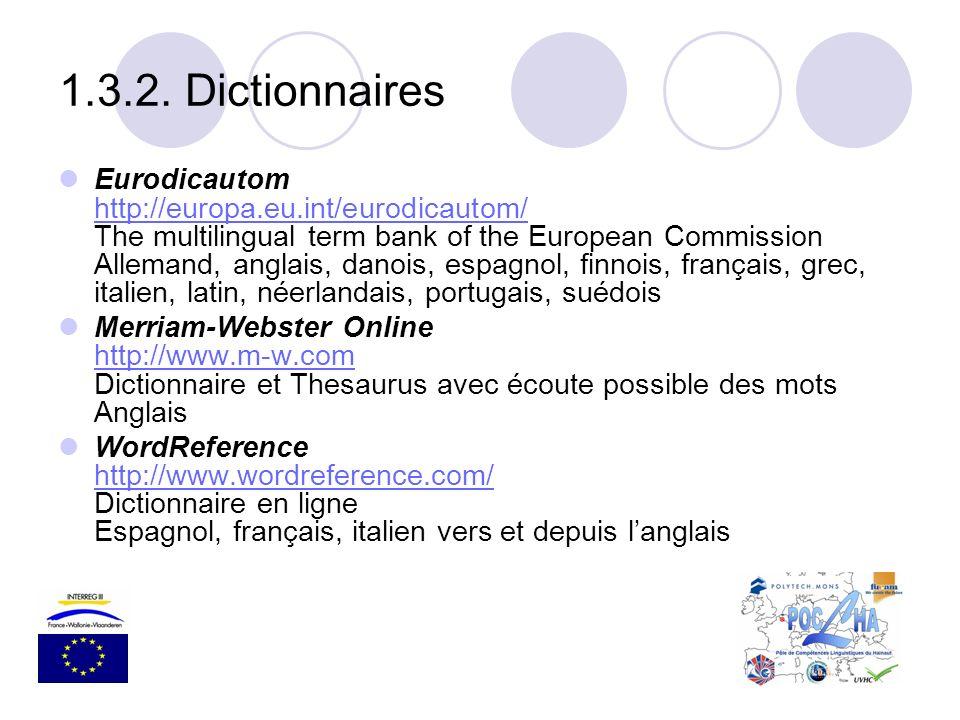 1.3.2. Dictionnaires