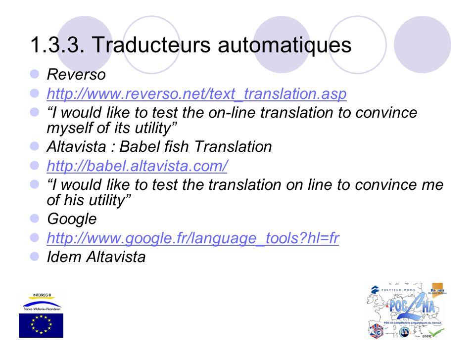 1.3.3. Traducteurs automatiques