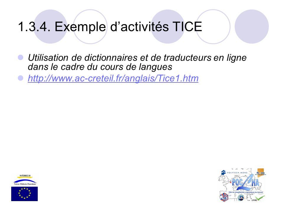 1.3.4. Exemple d'activités TICE