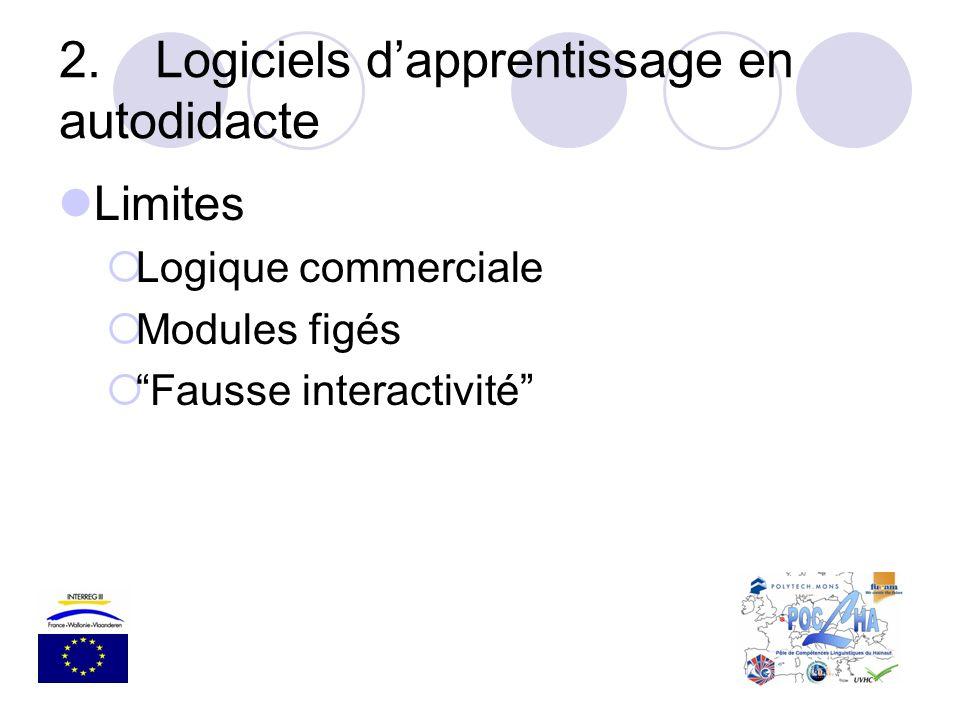 2. Logiciels d'apprentissage en autodidacte