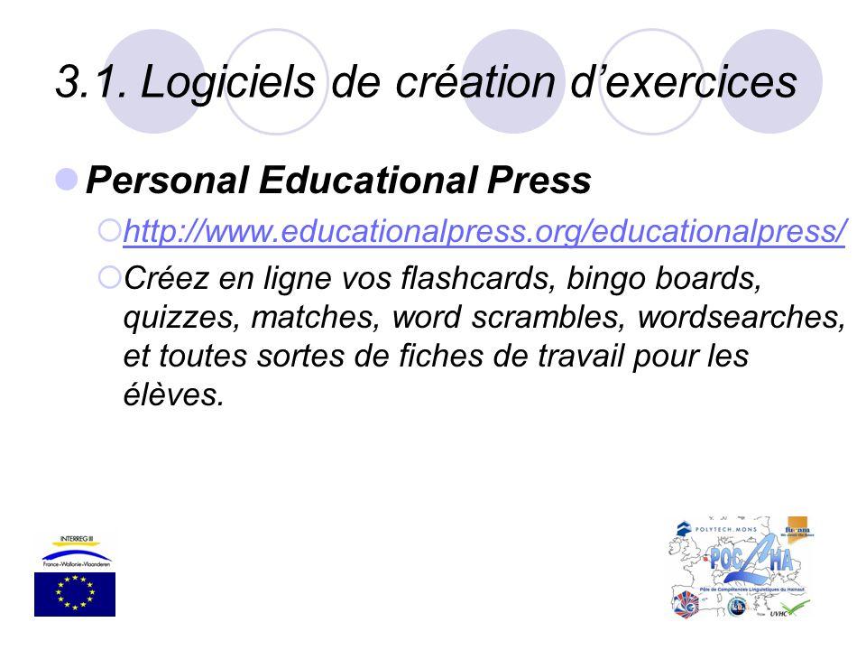 3.1. Logiciels de création d'exercices