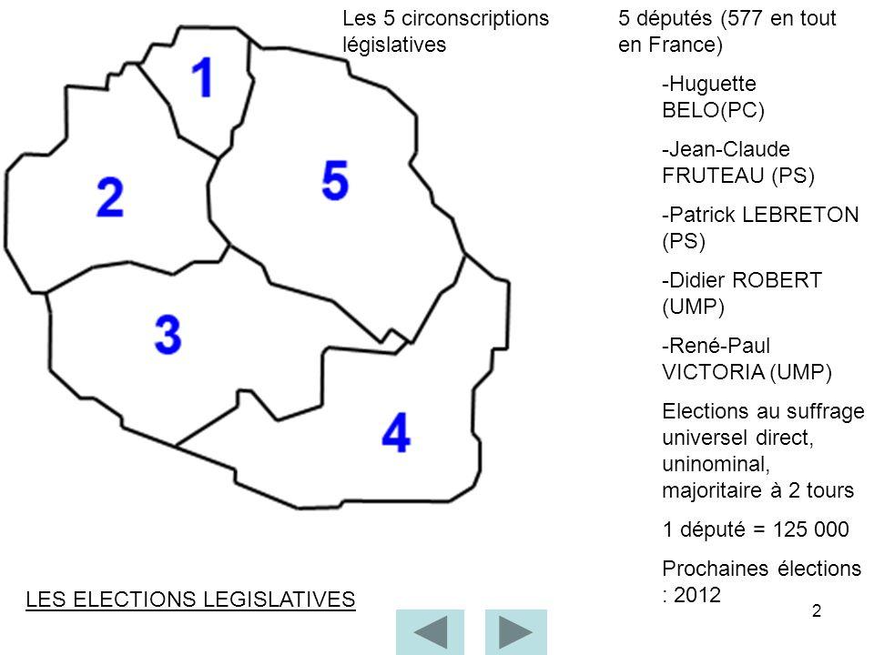 Les 5 circonscriptions législatives