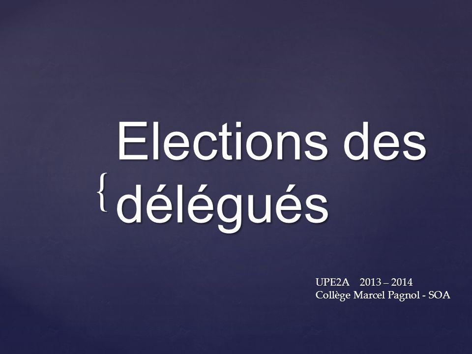Elections des délégués