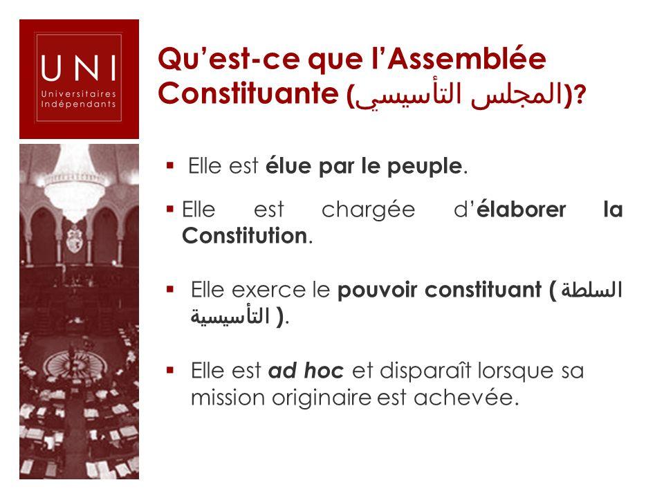 Qu'est-ce que l'Assemblée Constituante (المجلس التأسيسي)