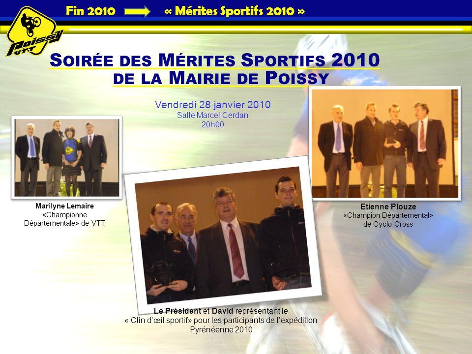 Fin 2010 « Mérites Sportifs 2010 »