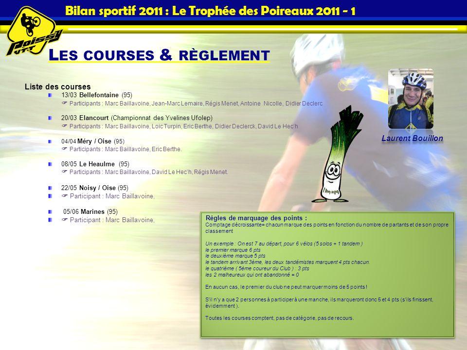 Bilan sportif 2011 : Le Trophée des Poireaux 2011 - 1