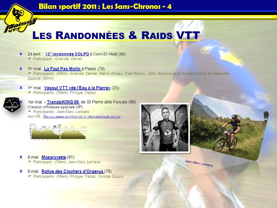 Bilan sportif 2011 : Les Sans-Chronos - 4
