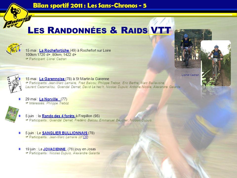 Bilan sportif 2011 : Les Sans-Chronos - 5