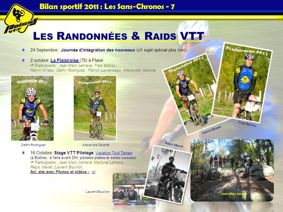 Bilan sportif 2011 : Les Sans-Chronos - 7