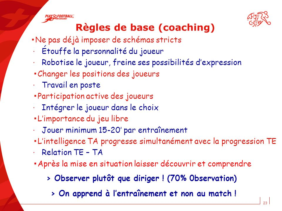 Règles de base (coaching)