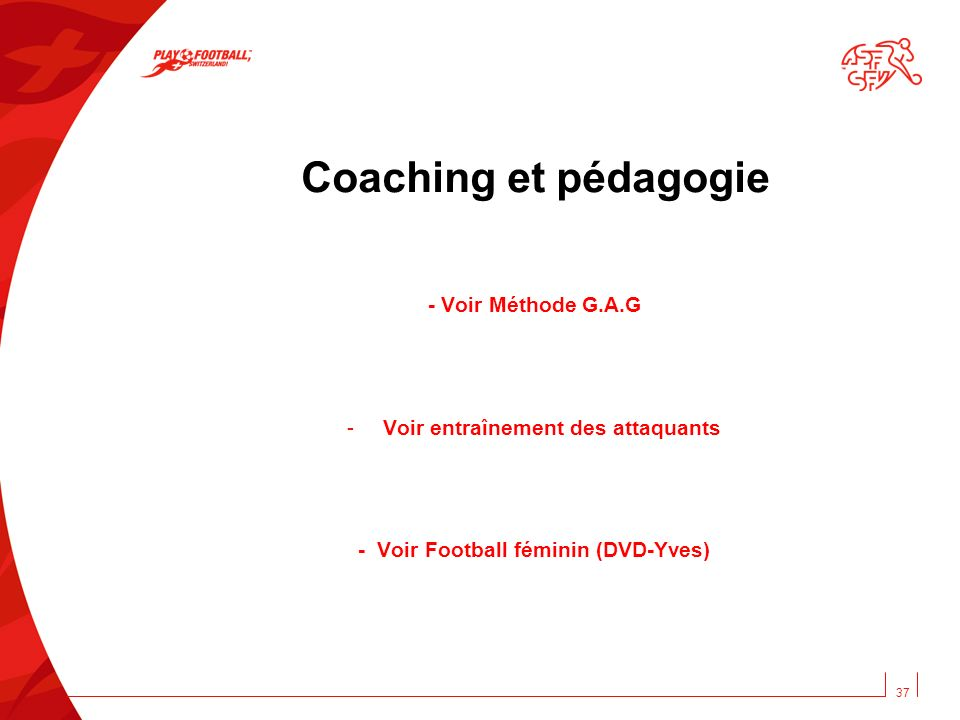 Voir entraînement des attaquants - Voir Football féminin (DVD-Yves)