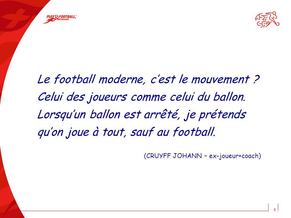 Le football moderne, c'est le mouvement