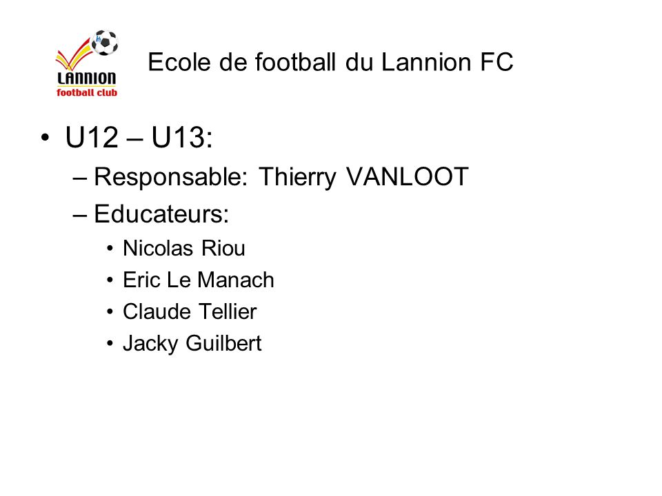 Ecole de football du Lannion FC