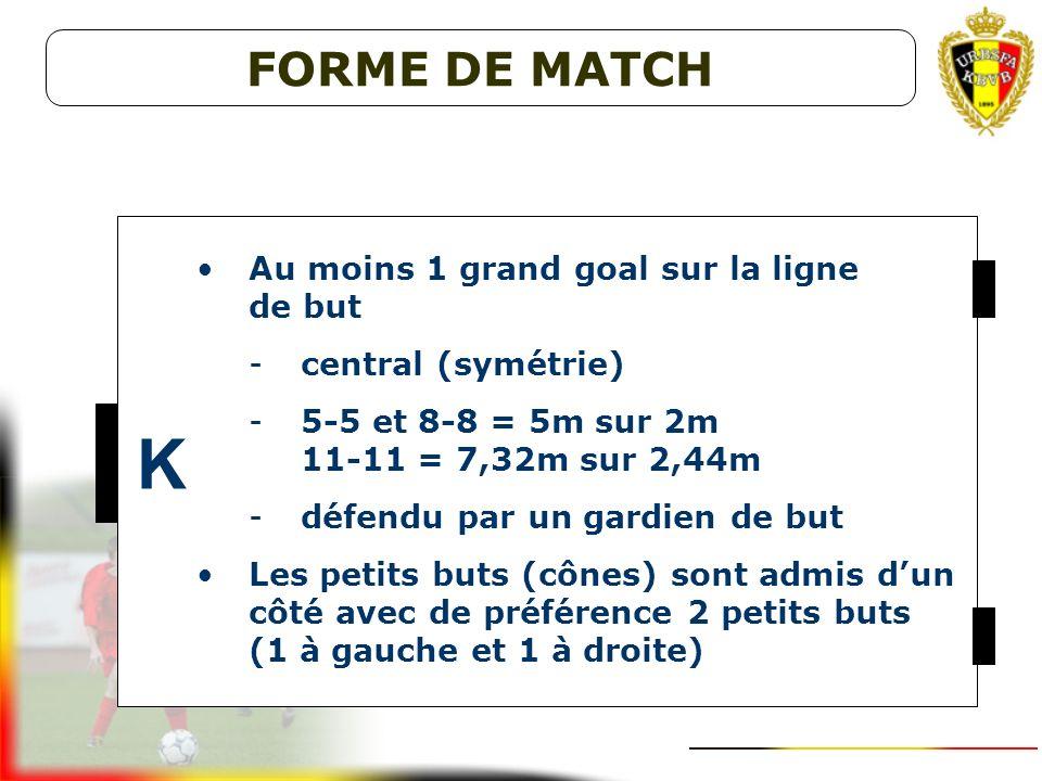 K FORME DE MATCH Au moins 1 grand goal sur la ligne de but