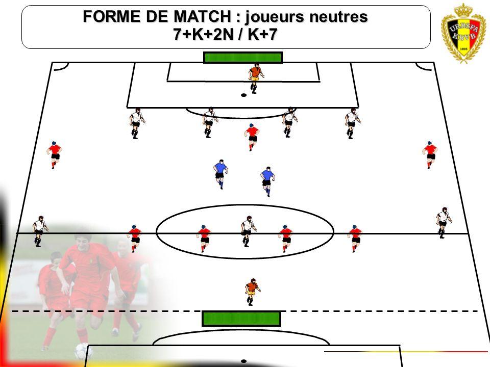 FORME DE MATCH : joueurs neutres 7+K+2N / K+7