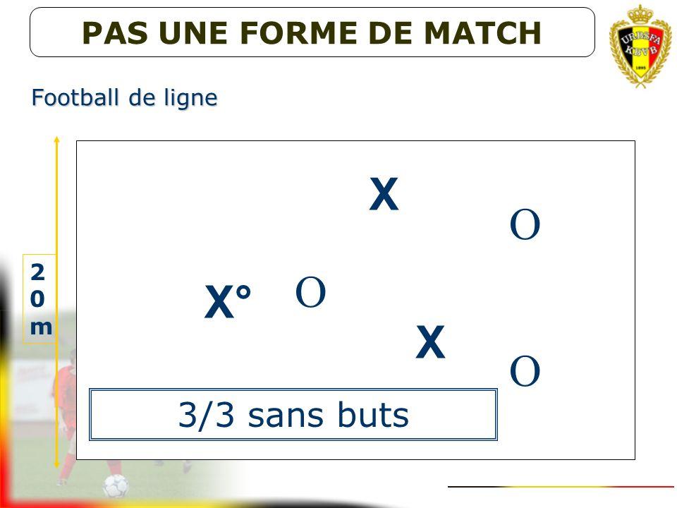 X O O X° X O 3/3 sans buts PAS UNE FORME DE MATCH Football de ligne