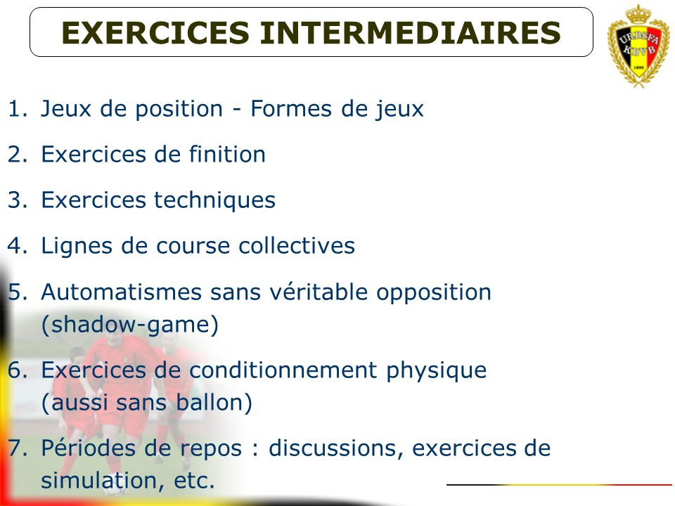 EXERCICES INTERMEDIAIRES