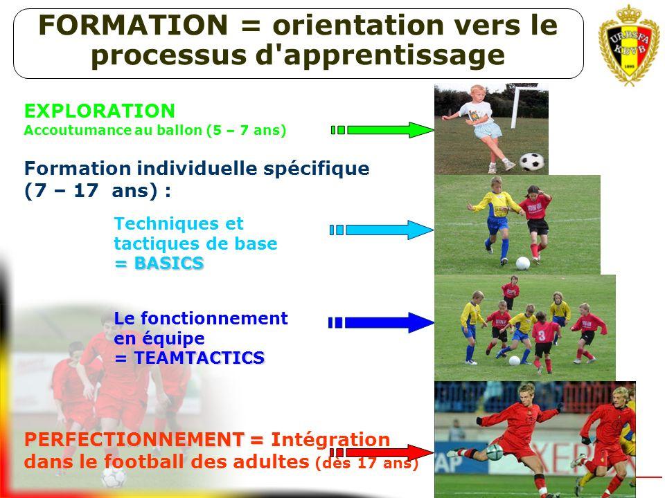 FORMATION = orientation vers le processus d apprentissage