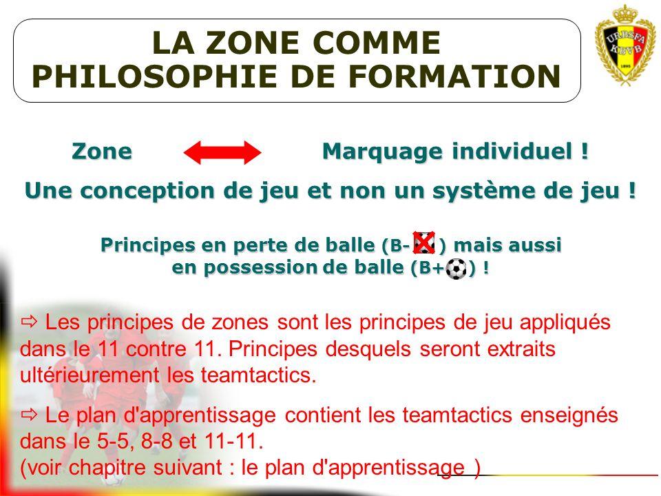 LA ZONE COMME PHILOSOPHIE DE FORMATION