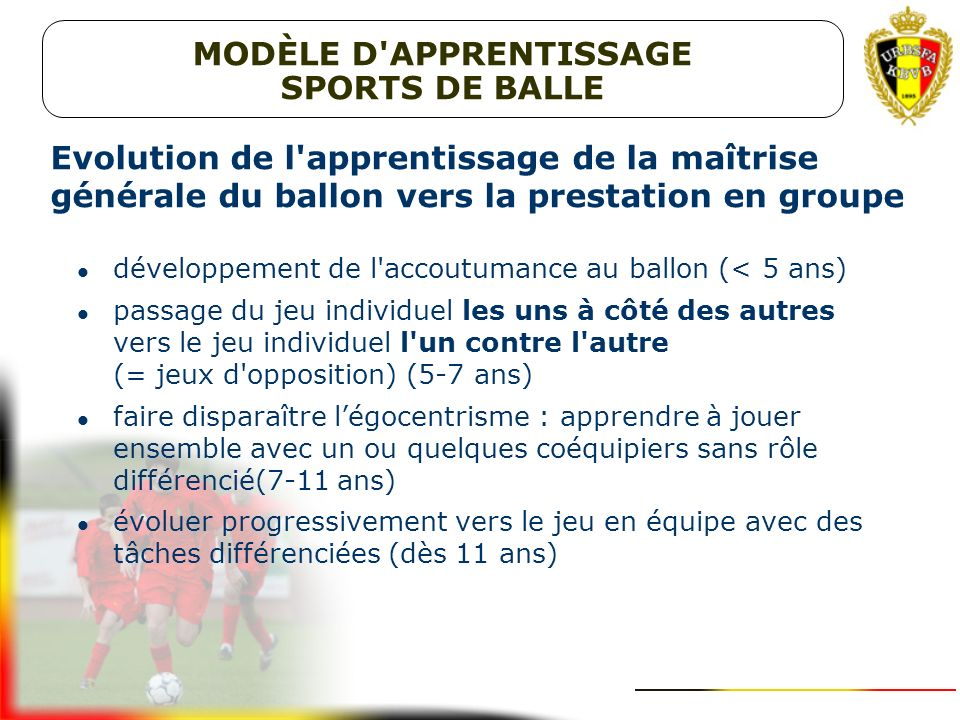 MODÈLE D APPRENTISSAGE SPORTS DE BALLE
