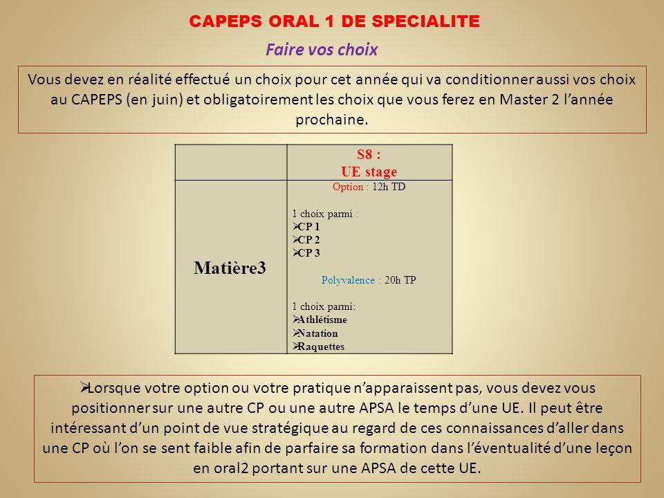 CAPEPS ORAL 1 DE SPECIALITE