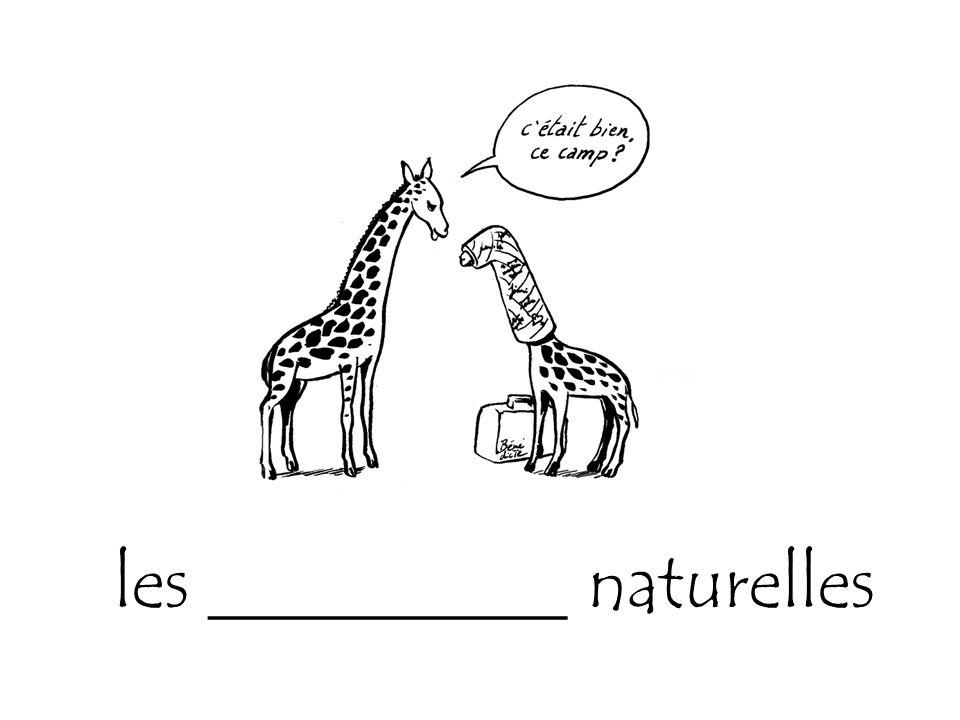 les __________ naturelles