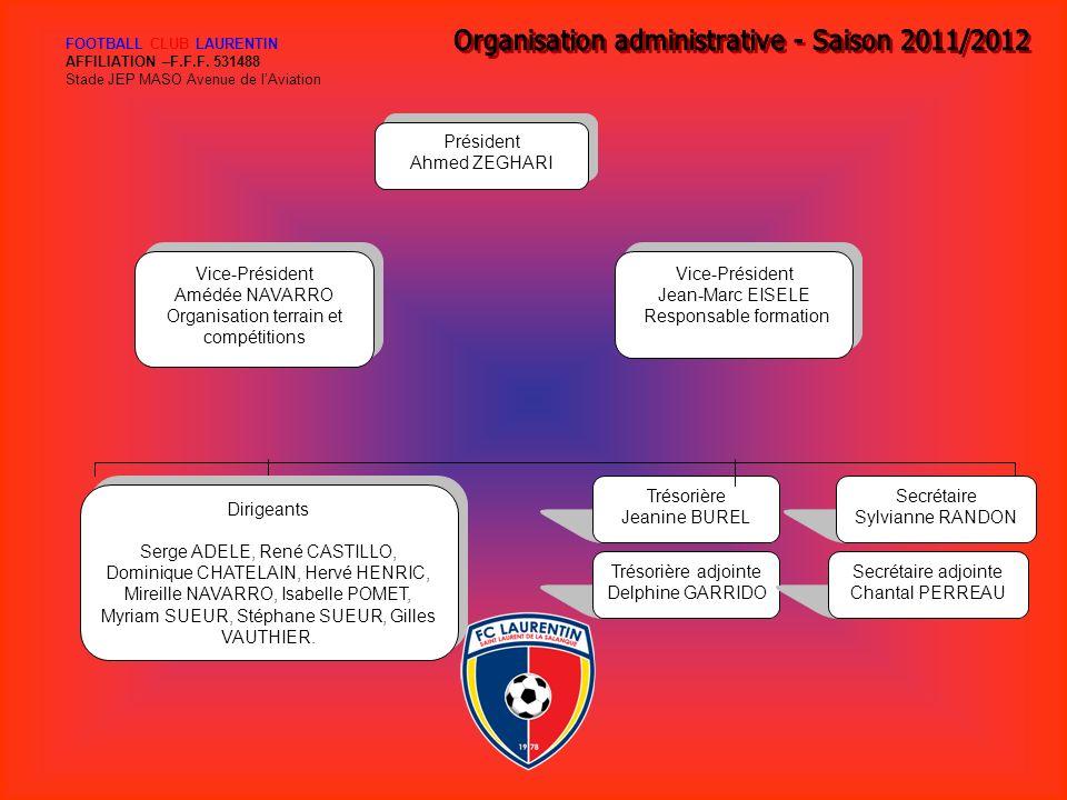 Organisation administrative - Saison 2011/2012