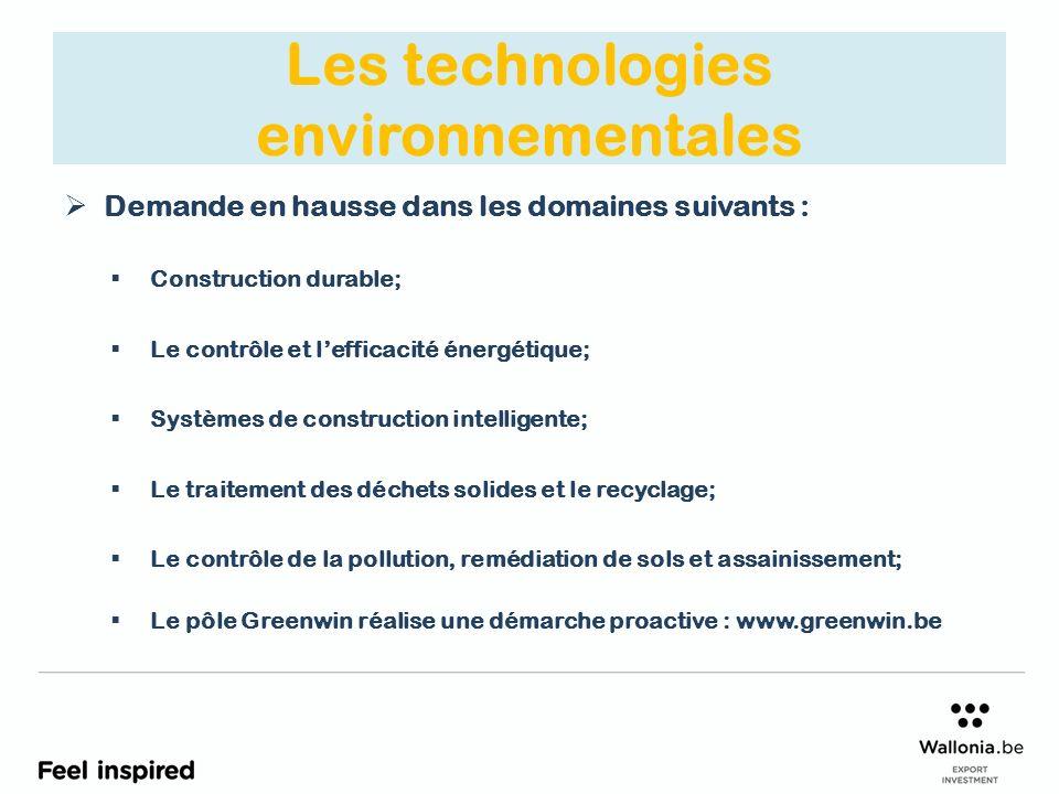 Les technologies environnementales