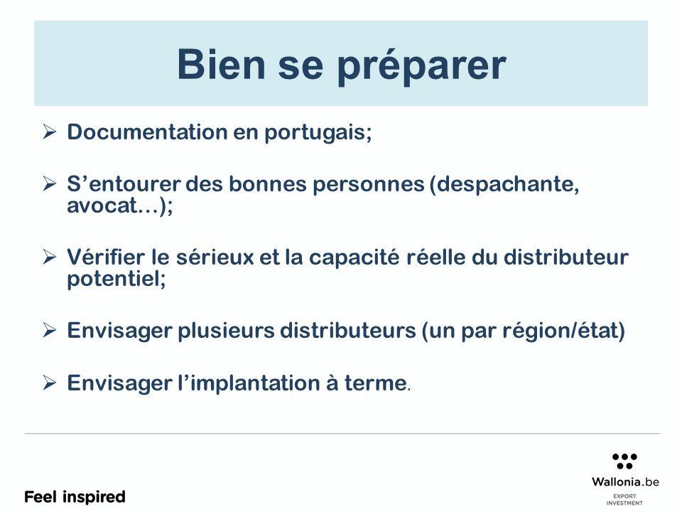Bien se préparer Documentation en portugais;