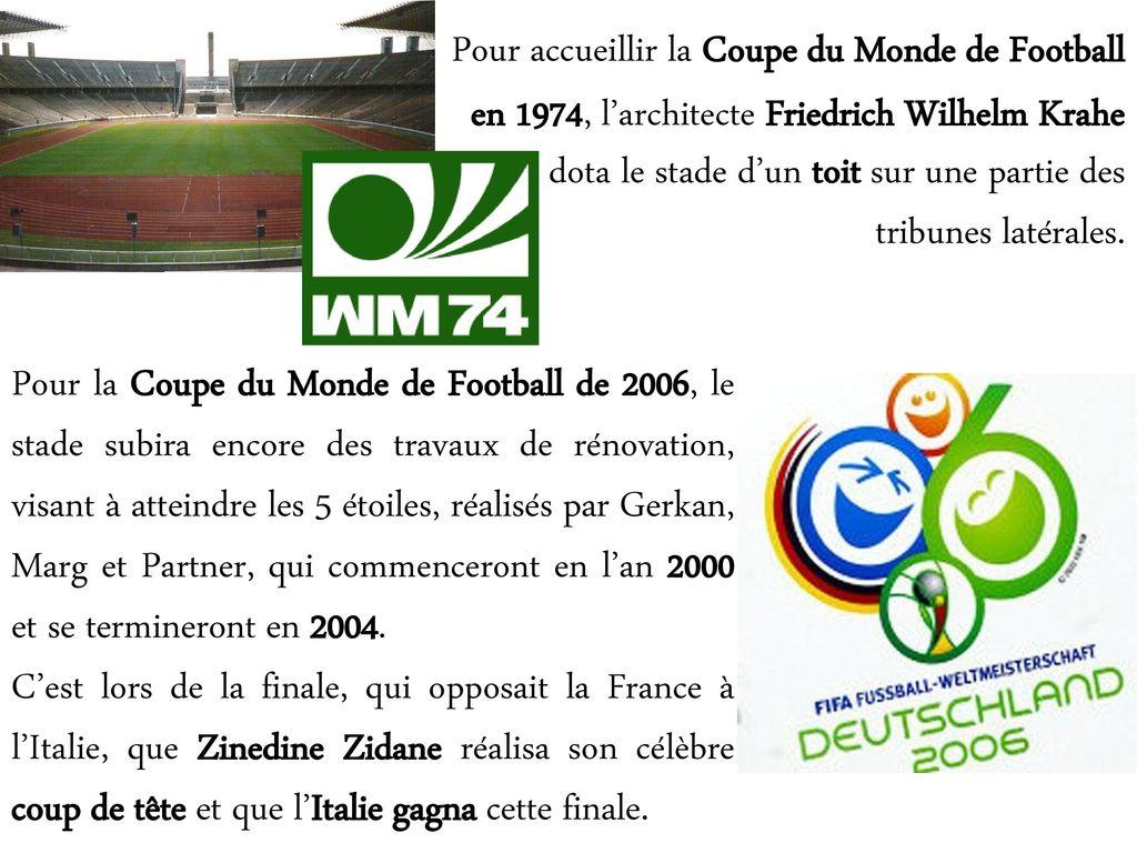 Stade olympique de berlin ppt t l charger - Coupe du monde de football 2006 ...