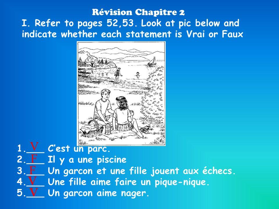 v v V F F Révision Chapitre 2