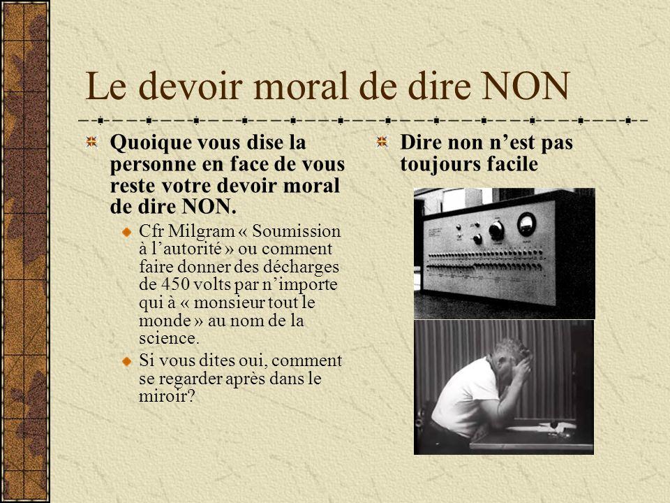Le devoir moral de dire NON