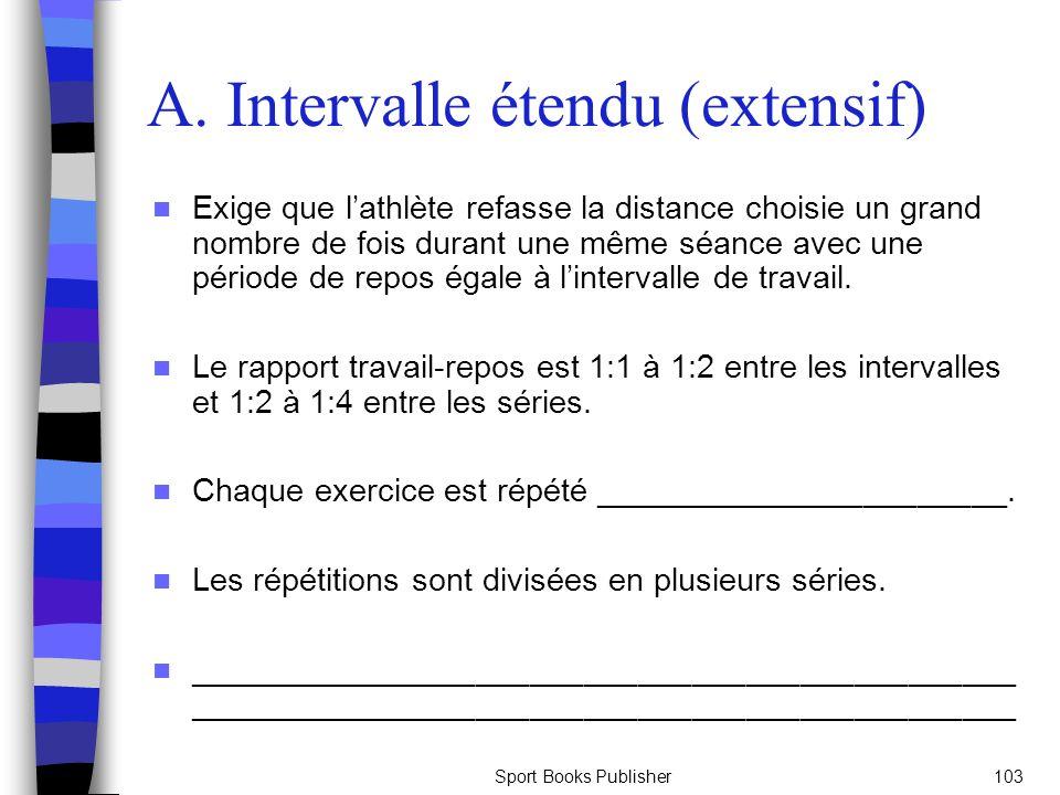 A. Intervalle étendu (extensif)