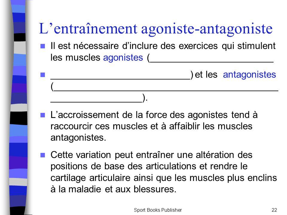 L'entraînement agoniste-antagoniste