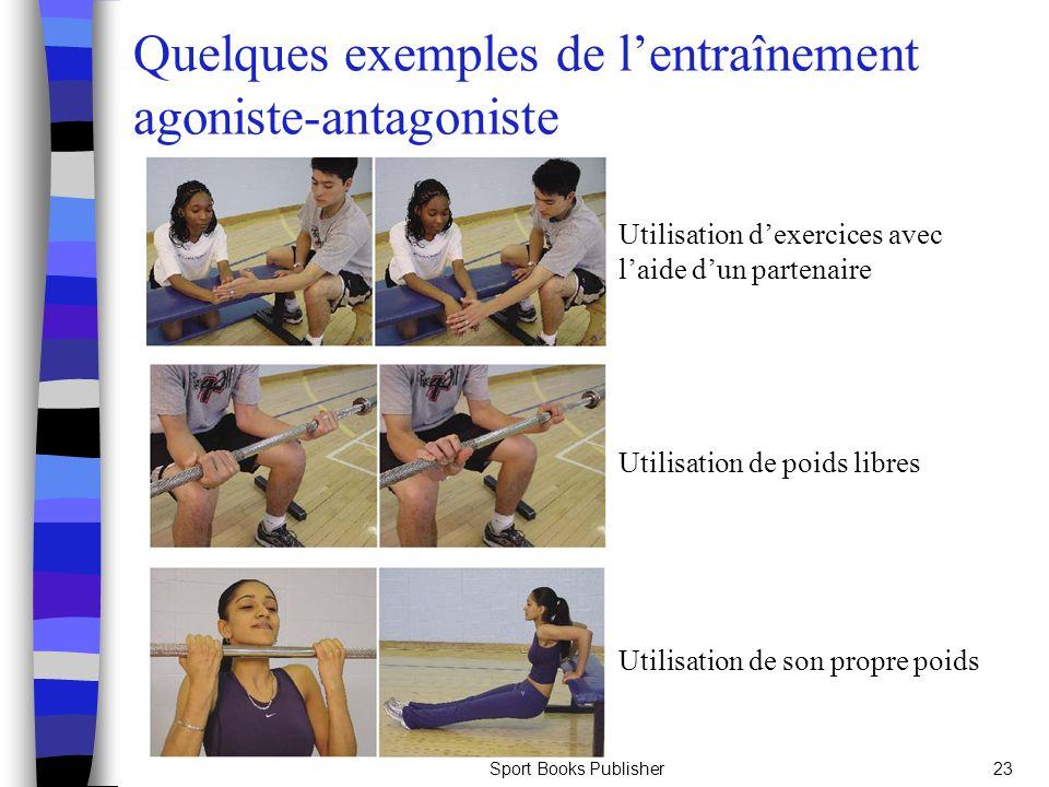 Quelques exemples de l'entraînement agoniste-antagoniste