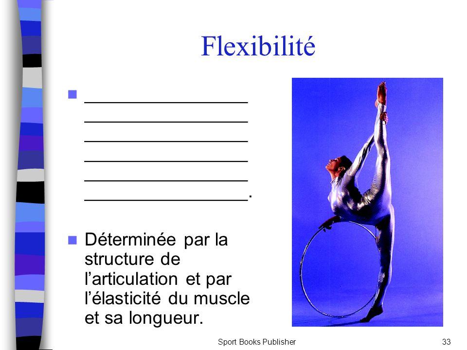 Flexibilité ________________________________________________________________________________________________.