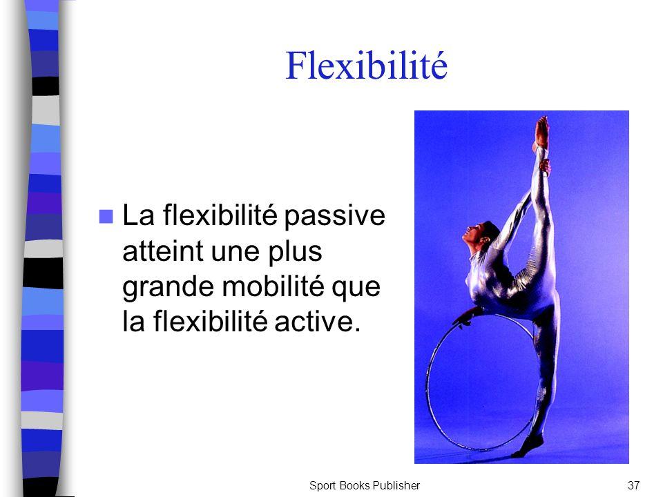 Flexibilité La flexibilité passive atteint une plus grande mobilité que la flexibilité active.