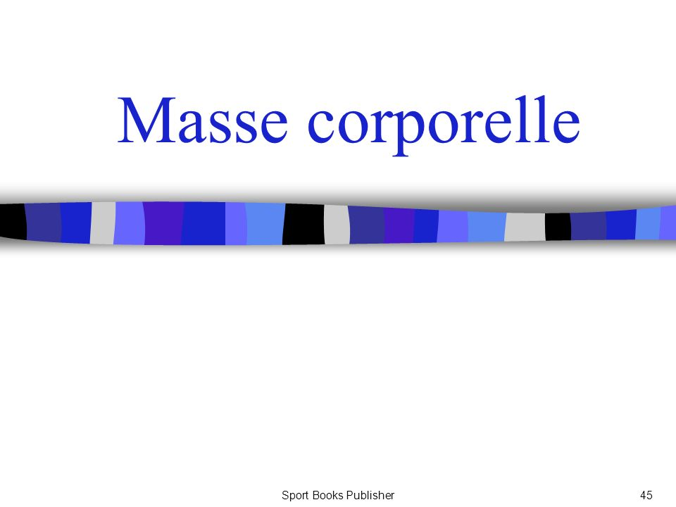 Masse corporelle Sport Books Publisher