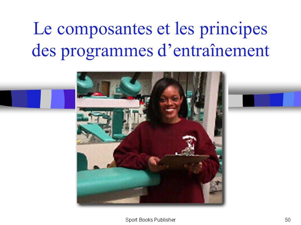 Le composantes et les principes des programmes d'entraînement