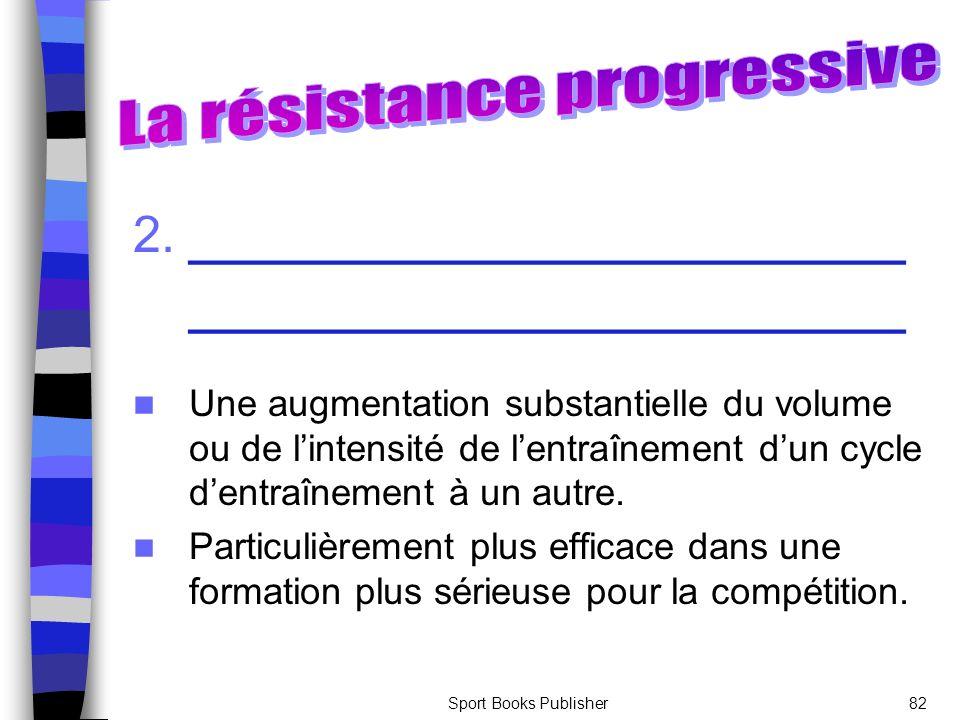 La résistance progressive