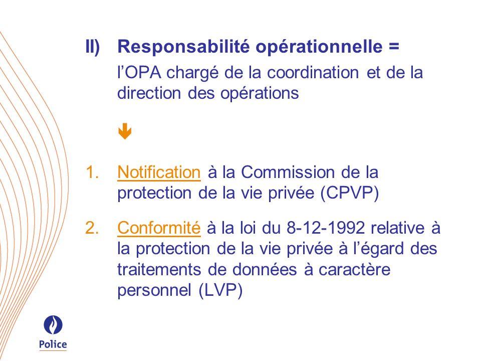 II) Responsabilité opérationnelle =